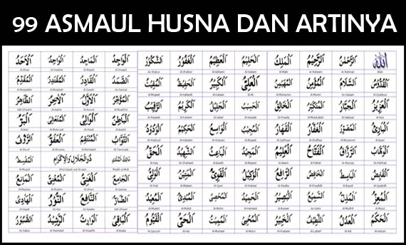 Names Of Allah 99 Asmaul Husna Allahs With Meaning